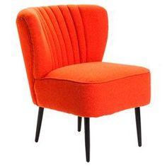 Valencia Slipper Chair in Orange
