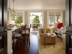 Open to the backyard- love the see through French doors.