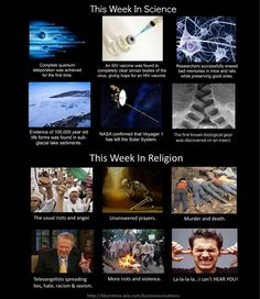 Another great week for science and religion! Oh... wait... :P - http://holesinthefoam.us/thisweekinscience2/