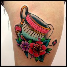 .@tillydee | Tea cup tattoo