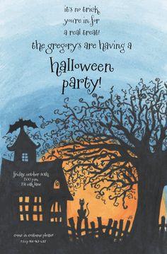 Spooky Moon by VG Designs - Invitation Box