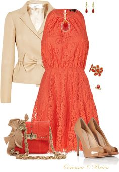 """""""Coral Petal"""" by corenna-obrien ❤ liked on Polyvore"""