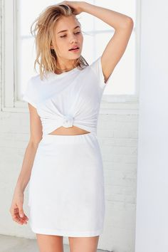 Silence + Noise Knotted T-Shirt Dress | Urban Outfitters