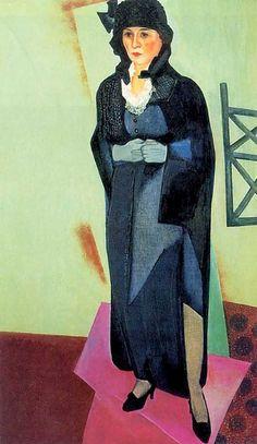 "The Artist's Wife Nadezhda Shterenberg"" by David Shterenberg (Russian 1881-1948)"