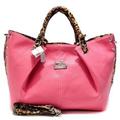 Coach Madison Leopard Large Pink Satchels ACO Give You The Best feeling!