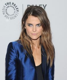 Keri Russell looking effortless and fresh at THE PALEY Fest // Hair by Brian Magallones
