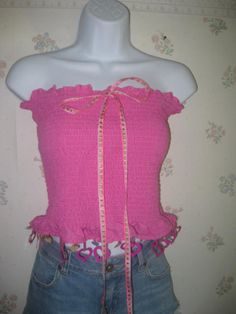 Ladies MEDIUM 28 to 35 inch chest Dora the Explorer hot pink stretch tube top halter shirt