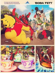Deadpool and Boba Fett visit Disney World