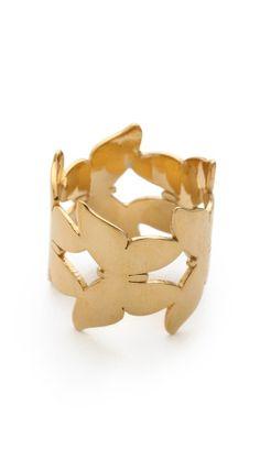 Jennifer Zeuner Jewelry Butterfly Eternity Ring | SHOPBOP