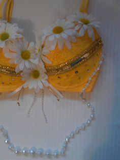 36C EDC Yellow Daisy Rave Bra by Xternal777 on Etsy, $55.00 Idea