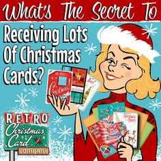 How to Receive Lots of Christmas Cards. We all love getting something in our mailboxes other than bills right? Retro Christmas Cards | Vintage Christmas Cards