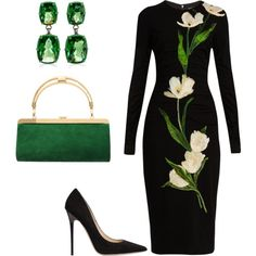 A fashion look from August 2016 featuring Dolce&Gabbana dresses, Jimmy Choo pumps and Balmain clutches. Browse and shop related looks.