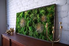 """Moss Wall Art Moss Art Work REAL Preserved Moss No - 50'x28"""" - $1,295"""