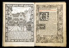 Charles Gere's woodcut of Kelmscott Manor (1892), used by William Morris as frontispiece to his romance, News from Nowhere.