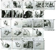 Bill Peet's Dumbo storyboard