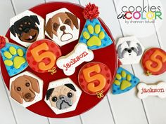 Here in Texas it feels like the Dog Days of Summer might be coming to an end….but you never know! This little guy loves doggies, so a doggie themed party it is! I bet he has the biggest heart. I love dogs, but only cute one. 🤣My daughter loves even the ugly ones. A true dog lover! 🐶 Dog Birthday, Birthday Cookies, My Sister In Law, Daughter Love, I Love Dogs, Dog Days, Party Themes, Dog Lovers, Photo And Video