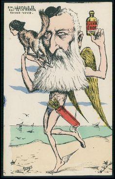 Caricature, Belgium, Politics, Ballet, King, Stars, Illustration, Ebay, Vintage