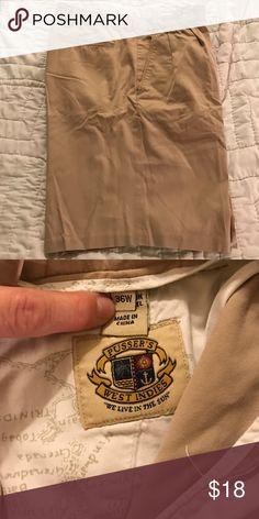 Men's Khaki pleated dress shorts size 36 EUC Pusser's West Indies pleated dress shorts size 36 Pusser's Shorts