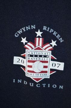 Tony Gwynn Cal Ripken Jr. MLB National Baseball Hall Of Fame Induction T Shirt  #ShortSleeve