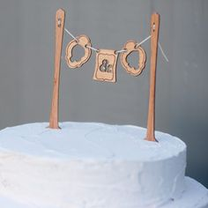 Wood cake bunting and silhouettes. I saw at the Renegade Craft Fair and they are fabulous in person too!