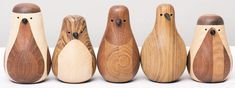 Norwegian designer makes these birds from leftover wood...they are re-turned...that's great!