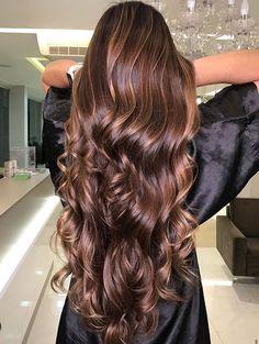 Brown Hair Balayage, Brown Blonde Hair, Hair Color For Black Hair, Hair Color Streaks, Hair Highlights, Gorgeous Hair Color, Hair Styler, Aesthetic Hair, Light Hair