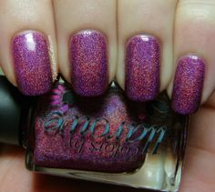 Colors by Llarowe Valentine Collection 2014. OABTRAD (Orchids Are Better Than Roses Any Day) is an orchid holographic. The shade is a rich pink/magenta and the holo is a loose linear.