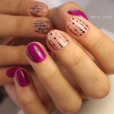 Here are some hot nail art designs that you will definitely love and you can make your own. You'll be in love with your nails on a daily basis. Gorgeous Nails, Love Nails, Pretty Nails, My Nails, Gelish Nails, Nail Manicure, Queen Nails, Nails 2017, Polka Dot Nails