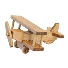 Amish Made Wooden Toy Small Airplane