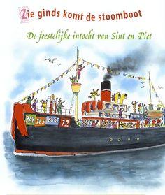 Zie ginds komt de stoomboot, uit het boek : Alles wat je wilt weten over Sinterklaas. Auteurs :  Natalie van der Horst, Gaby Kuijpers. Co-auteur : Ellen de Roos. Illustrator : Alex de Wolff