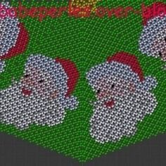 Danish weave pattern of & # 039; a father christmas