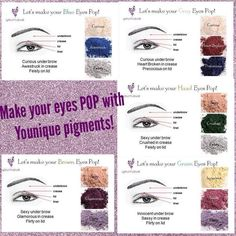 Younique mineral pigments are sure to make your eye color and you eyes POP!