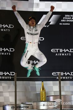 Podium: second place and new world champion Nico Rosberg, Mercedes AMG Petronas F1 W07
