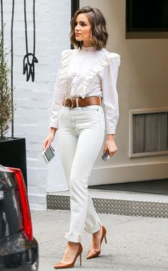 Olivia Culpo from Prince's Best Looks Inspired These 11 Trends  This year, many celebs channeled the old-school blouse in very edgy ways.