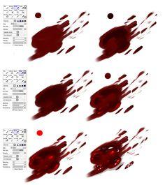 Easy Blood - tutorial by ryky.deviantart.com on @deviantART