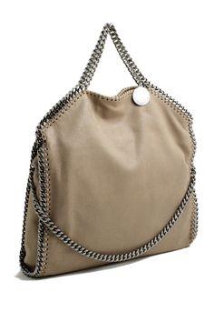 ee6ba71821 Stella McCartney falabella three chain beage toffee tote bag Stella  McCartney shop online