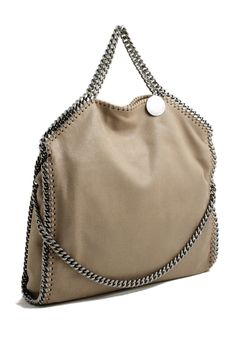 Stella McCartney falabella three chain beage toffee tote bag Stella  McCartney shop online 2ca695b18d