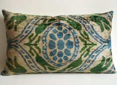 Silk Velvet Ikat Pillow by sukan, $69.95