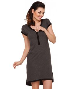 affbb9c707 Rosy Button Front Maternity and Nursing Nightgown - milk   baby Maternity  Nursing Pajamas