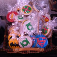galleta decorada, liga de la justicia