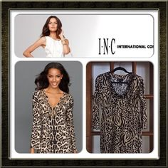 🎉HP INC International Concepts Animal Print Tunic Gorgeous poly/spandex animal print tunic with black beaded neckline by INC International Concepts. Size Small could fit a petite medium. Great transitional piece. Can be worn with jeans, leggings, a skirt, or black pants. Minimal accessories needed due to the gorgeous neckline. Great for traveling since it's easy to pack & wrinkle free. Purchased from Macy's. INC International Concepts Tops Tunics