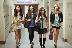 Pretty Little Liars fashion: Emily, Spencer, Aria, and Hanna