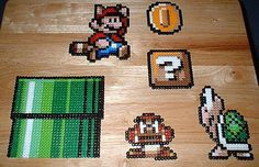 Some day when I'm really bored, I'm going to make a whole bunch of pearler bead Mario magnets.