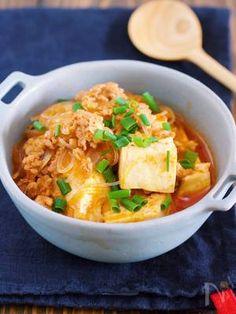 鍋に入れて煮るだけ5分♪『豆腐と春雨のチゲ風そぼろ煮』 by Yuu   レシピサイト「Nadia   ナディア」プロの料理を無料で検索