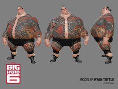 Disney Big Hero 6 and Feast Zbrush Characters - 3d Digital Art, Art