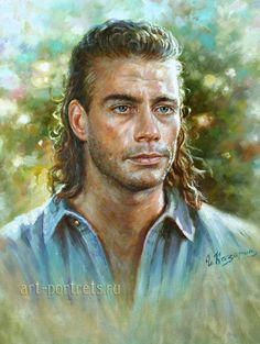 oil painting portrait jean claude van dam by igor Classic Portraits, Portraits From Photos, Celebrity Drawings, Celebrity Portraits, Oil Portrait, Pencil Portrait, Van Damme, Artistic Visions, Claude