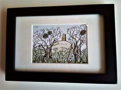 Mistletoe Trees  watercolour & pen (sold)