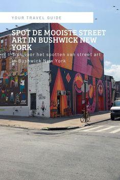 Spot de mooiste street art in Bushwick New York. Bushwick is een van de wijken in New York met veel street art. Benieuwd waar je dit het beste kunt zien? New York Trip, New York Travel Guide, Usa Cities, New York Mets, Ultimate Travel, Solo Travel, Where To Go, Travel Inspiration, North America