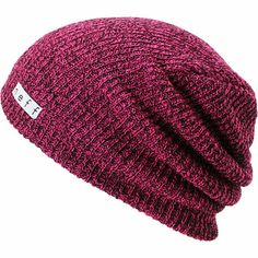d7bfee76ec6 Neff Daily Slouch beanie for cool nights and fun times in the Heather  Magenta and black