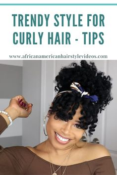 Trendy Style Ideas For Curly Natural Hair - Tips & Tricks Quick Curly Hairstyles, Curly Hair Tips, Natural Hair Tips, Prom Hairstyles, Curly Hair Styles, Cut And Style, Cut And Color, Trendy Style, Trendy Fashion